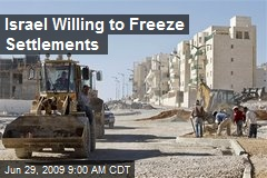 Israel Willing to Freeze Settlements