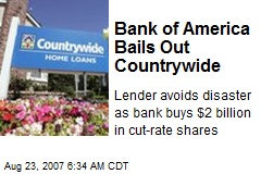 Bank of America Bails Out Countrywide