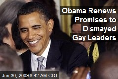 Obama Renews Promises to Dismayed Gay Leaders