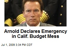 Arnold Declares Emergency in Calif. Budget Mess