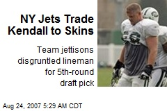 NY Jets Trade Kendall to Skins