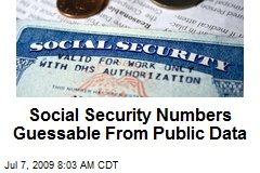 Social Security Numbers Guessable From Public Data