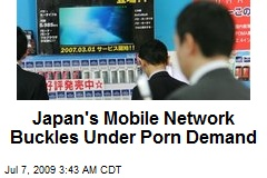 Japan's Mobile Network Buckles Under Porn Demand
