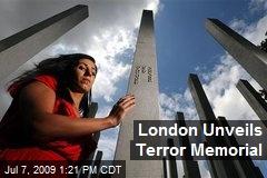 London Unveils Terror Memorial