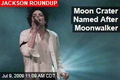 Moon Crater Named After Moonwalker