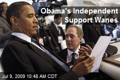 Obama's Independent Support Wanes