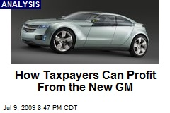 How Taxpayers Can Profit From the New GM
