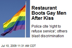 Restaurant Boots Gay Men After Kiss