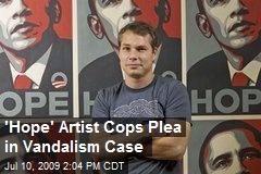 'Hope' Artist Cops Plea in Vandalism Case