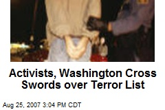 Activists, Washington Cross Swords over Terror List