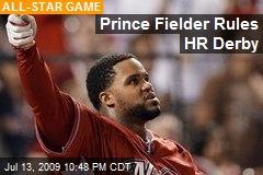 Prince Fielder Rules HR Derby