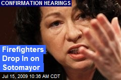Firefighters Drop In on Sotomayor