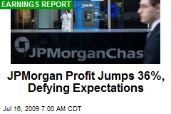 JPMorgan Profit Jumps 36%, Defying Expectations
