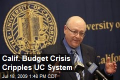 Calif. Budget Crisis Cripples UC System