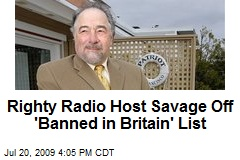 Righty Radio Host Savage Off 'Banned in Britain' List