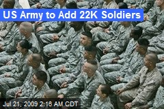 US Army to Add 22K Soldiers