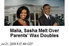 Malia, Sasha Melt Over Parents' Wax Doubles