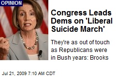 Congress Leads Dems on 'Liberal Suicide March'