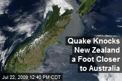 Quake Knocks New Zealand a Foot Closer to Australia