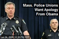 Mass. Police Unions Want Apology From Obama