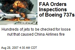 FAA Orders Inspections of Boeing 737s