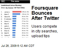 Foursquare Bounces After Twitter