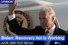 Biden: Recovery Act Is Working