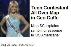 Teen Contestant All Over Map in Geo Gaffe