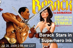 Barack Stars in Superhero Ink