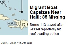 Migrant Boat Capsizes Near Haiti; 85 Missing
