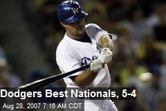 Dodgers Best Nationals, 5-4