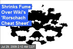 Shrinks Fume Over Wiki's 'Rorschach Cheat Sheet'