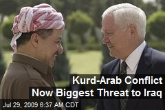 Kurd-Arab Conflict Now Biggest Threat to Iraq
