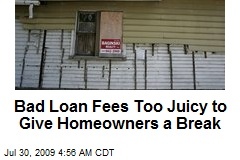 Bad Loan Fees Too Juicy to Give Homeowners a Break