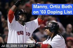 Manny, Ortiz Both on '03 Doping List