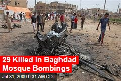 29 Killed in Baghdad Mosque Bombings