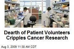 Dearth of Patient Volunteers Cripples Cancer Research