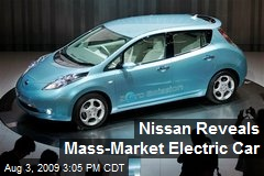 Nissan Reveals Mass-Market Electric Car