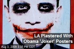 LA Plastered With Obama 'Joker' Posters