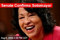 Senate Confirms Sotomayor