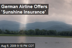 German Airline Offers 'Sunshine Insurance'