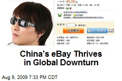 China's eBay Thrives in Global Downturn
