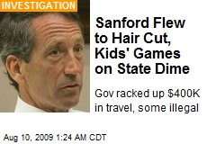 Sanford Flew to Hair Cut, Kids' Games on State Dime