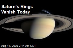 Saturn's Rings Vanish Today