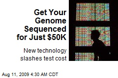 Get Your Genome Sequenced for Just $50K