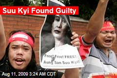 Suu Kyi Found Guilty