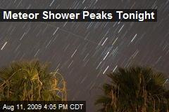 Meteor Shower Peaks Tonight