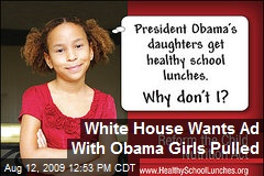 White House Wants Ad With Obama Girls Pulled