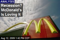 Recession? McDonald's Is Loving It