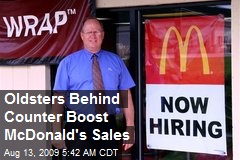 Oldsters Behind Counter Boost McDonald's Sales